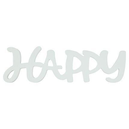 """Λέξη """"HAPPY"""" από βαμμένο ξύλο"""