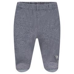 Παντελόνι ζέρσεϊ με κλειστό ποδαράκι και τυπωμένο λογότυπο