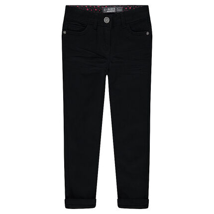 Μονόχρωμο παντελόνι σε slim γραμμή από ύφασμα τουίλ