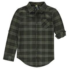 Παιδικά - Καρό πουκάμισο με μανίκια που γυρίζουν