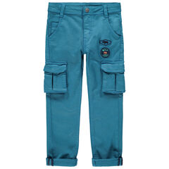 Παντελόνι cargo με σήματα και τσέπες