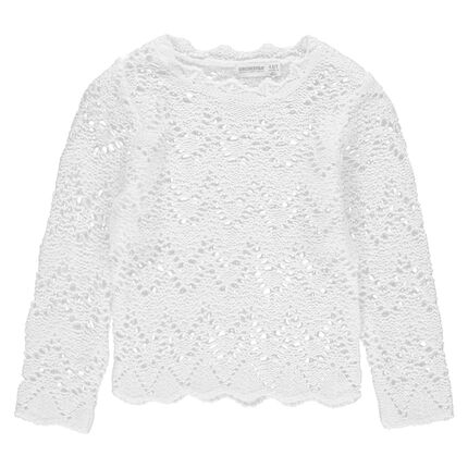 Πλεκτό πουλόβερ αζούρ