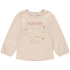T-shirt μακρυμάνικο με μήνυμα σχέδιο για bebe κορίτσι , Orchestra
