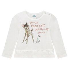 Μακρυμάνικη μπλούζα με βολάν και στάμπα Bambi της Disney