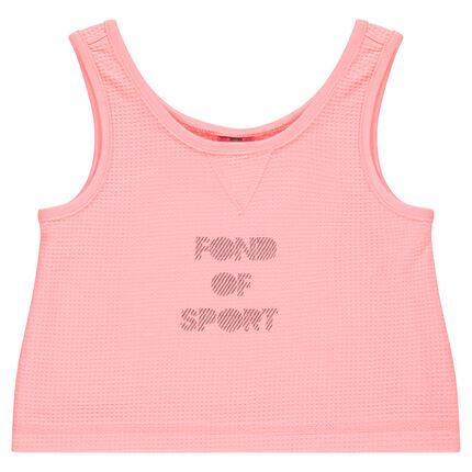 Αμάνικο αθλητικό μπλουζάκι