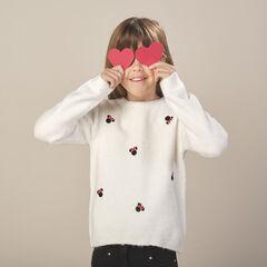 Pull en tricot motif Minnie Disney strass fantaisie