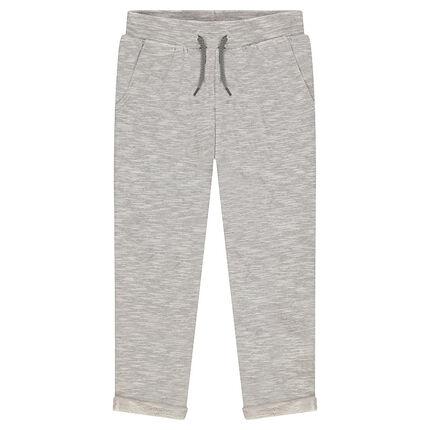 Παιδικά - Παντελόνι από φανέλα μελανζέ με τσέπες