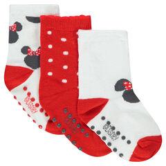 Σετ 3 ζευγάρια ασορτί κάλτσες με μοτίβο τη Μίνι της ©Disney