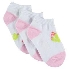 Σετ με 3 ζευγάρια κάλτσες με μοτίβο κάκτο