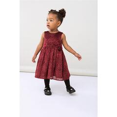 Αμάνικο πουά φόρεμα από βελούδο