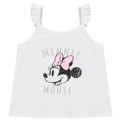 Ζέρσεϊ μπλουζάκι με τιράντες και στάμπα Μίνι της ©Disney