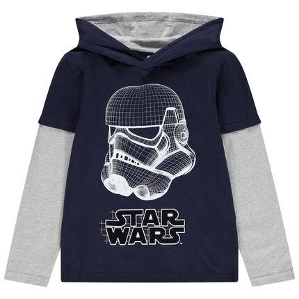 Παιδικά - Μακρυμάνικη μπλούζα με κουκούλα και στάμπα Stormtrooper Star Wars