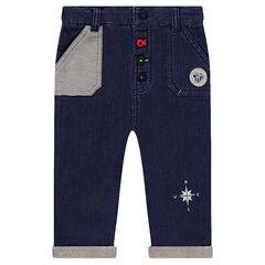 Παντελόνι από φανέλα με όψη ντένιμ και σήμα Μίκυ της Disney