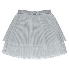 Πλισέ φούστα από λαμπερό τούλι
