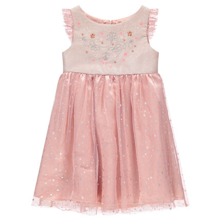 05ffe30769f Αμάνικο φόρεμα σε στυλ πριγκίπισσα με φλοράλ σχέδιο, κέντημα και ...