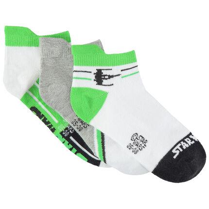 Σετ με 3 ζευγάρια κοντές κάλτσες Star Wars