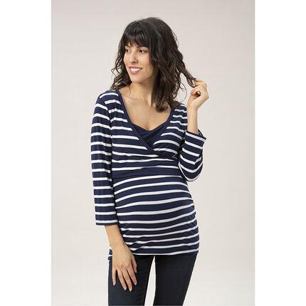 Μπλούζα εγκυμοσύνης με μανίκια 3/4 τυπωμένη