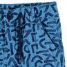 Βαμβακερή βερμούδα με εμπριμέ μοτίβο γράμματα και τσέπες