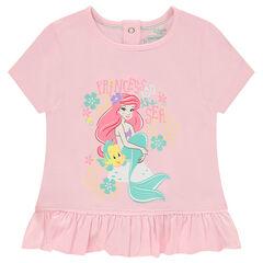 Κοντομάνικη ζέρσεϊ μπλούζα με τη Μικρή Γοργόνα της Disney