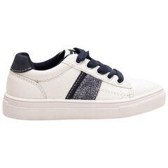 Χαμηλά αθλητικά παπούτσια με κορδόνια σε αντίθεση και απλιέ λωρίδες, από 28 έως 38