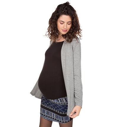 Ζακέτα εγκυμοσύνης με φαντεζί φύλλα