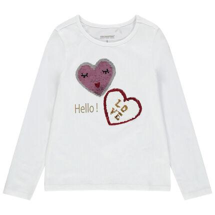 Μακρυμάνικη μπλούζα από βιολογικό βαμβάκι με μοτίβο από «μαγικές» πούλιες