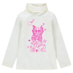 Ζιβάγκο με λαιμό που γυρίζει με στάμπα ροζ γάτα