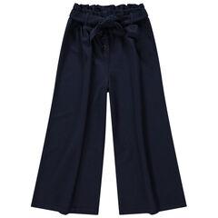 Παιδικά - Παντελόνι με φαρδιά μπατζάκια, μήκος πάνω από τον αστράγαλο και ζώνη που δένει
