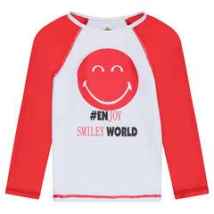 Μπλουζάκι με δείκτη αντηλιακής προστασίας SPF 50+ και στάμπα ©Smiley