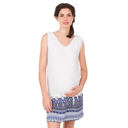 Αμάνικο φόρεμα εγκυμοσύνης με έθνικ μοτίβο