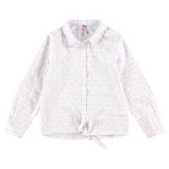 Παιδικά - Μακρυμάνικο πουκάμισο με λεπτές ρίγες και κορδονάκια που δένουν μπροστά