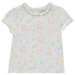 Κοντομάνικη μπλούζα με μοτίβο ψάρια σε όλη την επιφάνεια