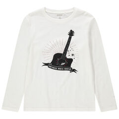 Junior - T-shirt manches longues print guitare