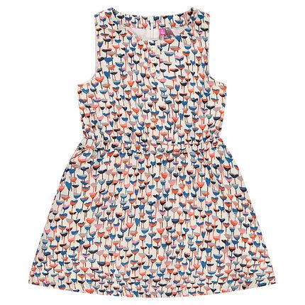 Φόρεμα κρεπ με φλοράλ μοτίβο