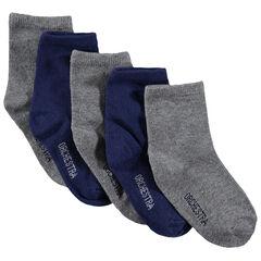 Σετ 5 ζευγάρια μονόχρωμες κάλτσες