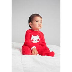 Σετ 2 βελουτέ φορμάκια ύπνου, μονόχρωμο / εμπριμέ με μοτίβο γάτες