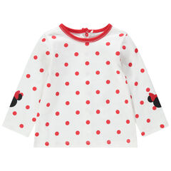 Μακρυμάνικη μπλούζα με πουά μοτίβο και στάμπες Μίνι