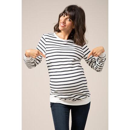 Φούτερ εγκυμοσύνης σε στυλ μαρινιέρας