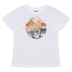 Κοντομάνικη μπλούζα από ζέρσεϊ με γραφικό σχέδιο