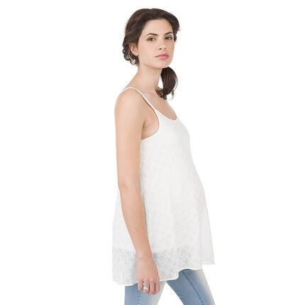 Αμάνικο εγκυμοσύνης από κρεπ ύφασμα σε ζακάρ μοτίβο