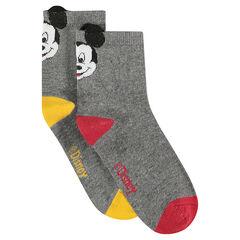 Σετ με 2 ζευγάρια κάλτσες με τον Mickey της ©Disney και ανάγλυφα αυτάκια