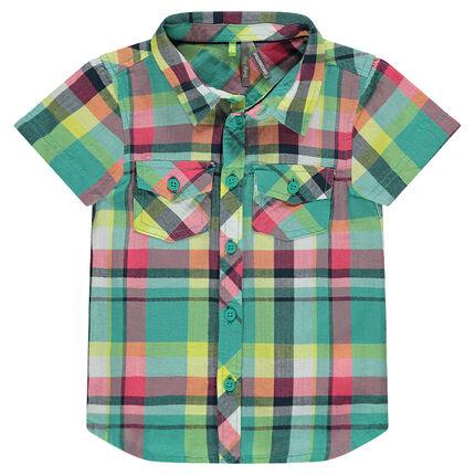 Κοντομάνικο καρό πουκάμισο