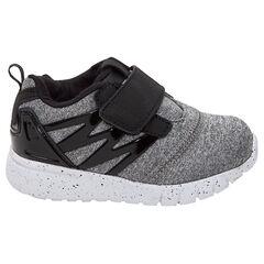 Χαμηλά αθλητικά παπούτσια με αυτοκόλλητο βέλκρο και φάσες λουστρίνι, νούμερα 24 έως 29