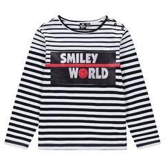 Παιδικά - Μακρυμάνικη ριγέ μπλούζα με στάμπα ©Smiley