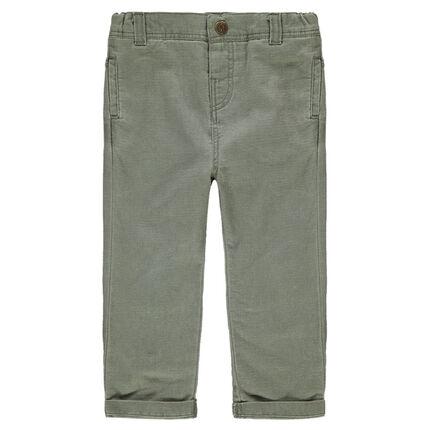 Βαμβακερό χακί παντελόνι
