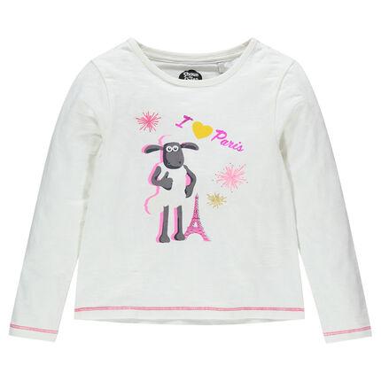 Μακρυμάνικη μπλούζα με τύπωμα τον Σον το Πρόβατο