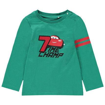 Μακρυμάνικη μπλούζα από βιολογικό βαμβάκι με στάμπα Cars της Disney
