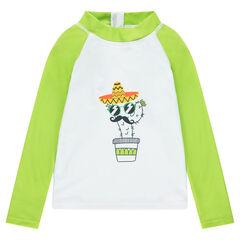 Μακρυμάνικη μπλούζα με αντηλιακή προσταασία και στάμπα με κάκτους