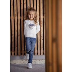 T-shirt μακρυμάνικο με οργανικό βαμβάκι με σχέδιο φαντεζί για κορίτσι , Orchestra
