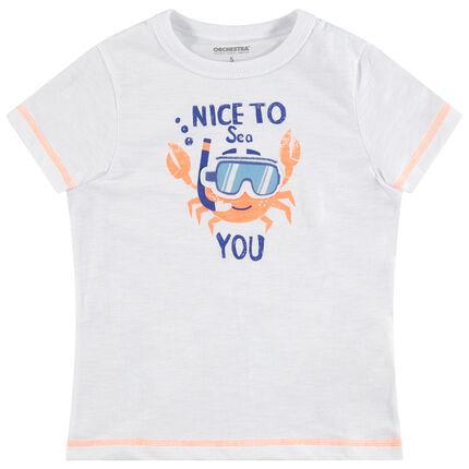 Κοντομάνικη μπλούζα από ζέρσεϊ με στάμπα κάβουρα